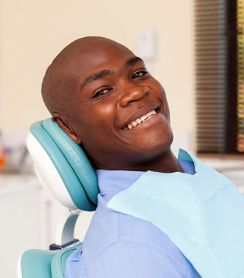 black male smiling